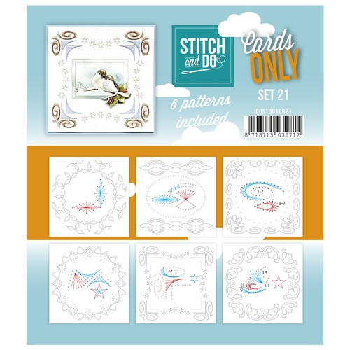 Card Deco - Stitch & Do - Oplegkaarten - Cards only - Set 21 - COSTDO10021