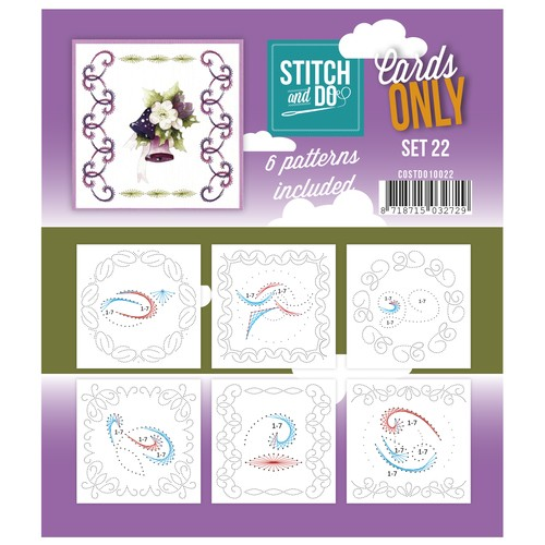 Card Deco - Stitch & Do - Oplegkaarten - Cards only - Set 22 - COSTDO10022
