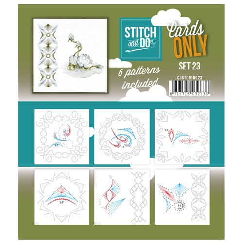 Card Deco - Stitch & Do - Oplegkaarten - Cards only - Set 23 - COSTDO10023