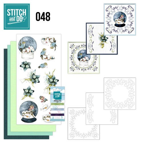Card Deco - Kaartenpakket - Stitch & Do No. 48 - Winterfun - STDO048