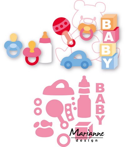 Marianne Design - Die - Collectables - Eline`s baby essentials - COL1421