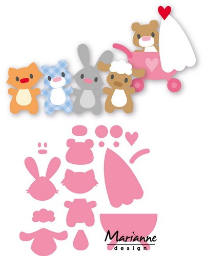 Marianne Design - Die - Collectables - Eline`s baby animals - COL1422
