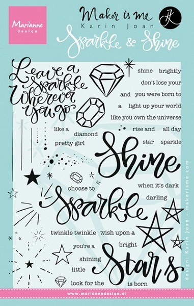 Marianne Design - Karin Joan - Clearstamp - Sparkle and Shine - KJ1704