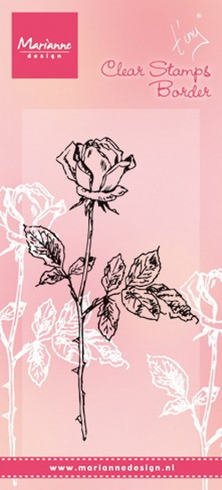 Marianne Design - Tiny`s - Clearstamp - Single Rose - TC0846