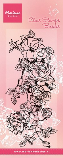 Marianne Design - Tiny`s - Clearstamp - Border Roses - TC0847
