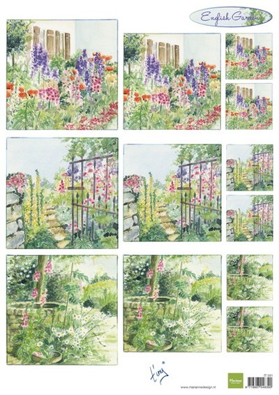 Marianne Design - Tiny`s - 3D-knipvel A4 - Tiny`s English Garden Foxgloves
