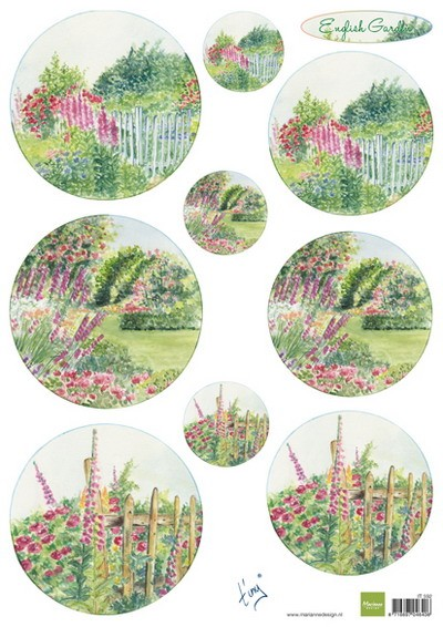 Marianne Design - Tiny`s - 3D-knipvel A4 - Tiny`s English Garden Roses
