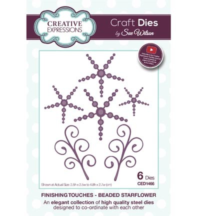 Creative Expressions - Die - The Finishing Touches Collection - Beaded Starflower - CED1466