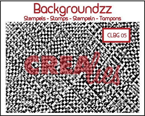 Crealies - Clearstamp - Backgroundzz - Bamboo mat - CLBG05