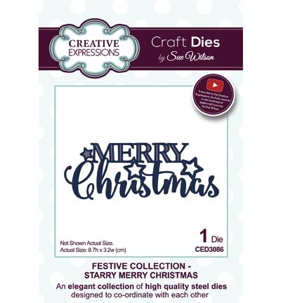 Creative Expressions - Die - The Festive Collection - Starry Merry Christmas - CED3086
