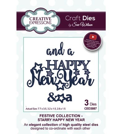 Creative Expressions - Die - The Festive Collection - Starry Happy New Year