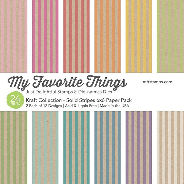My Favorite Things - Paperpacks - Kraft Collection - Solid Stripes - EP-34