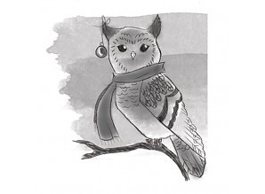Spellbinders - Cling Stamp - Winter Owl - DSC002