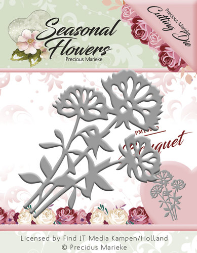 Card Deco - Precious Marieke - Die - Seasonal Flowers - Bouquet