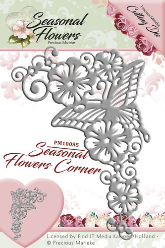 Card Deco - Precious Marieke - Die - Seasonal Flowers - Corner