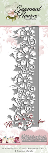 Card Deco - Precious Marieke - Die - Seasonal Flowers - Border