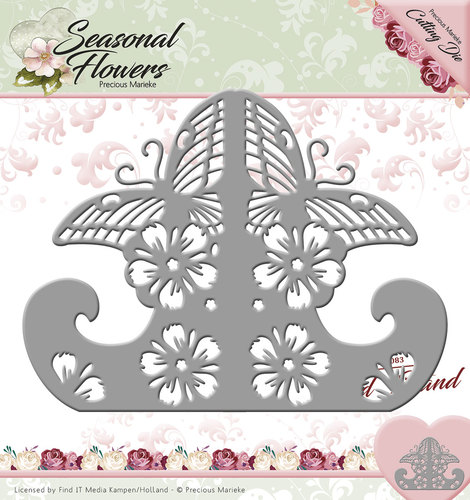 Card Deco - Precious Marieke - Die - Seasonal Flowers - Card Stand