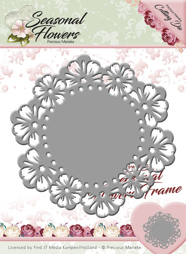 Card Deco - Precious Marieke - Die - Seasonal Flowers - Seasonal Flowers Frame
