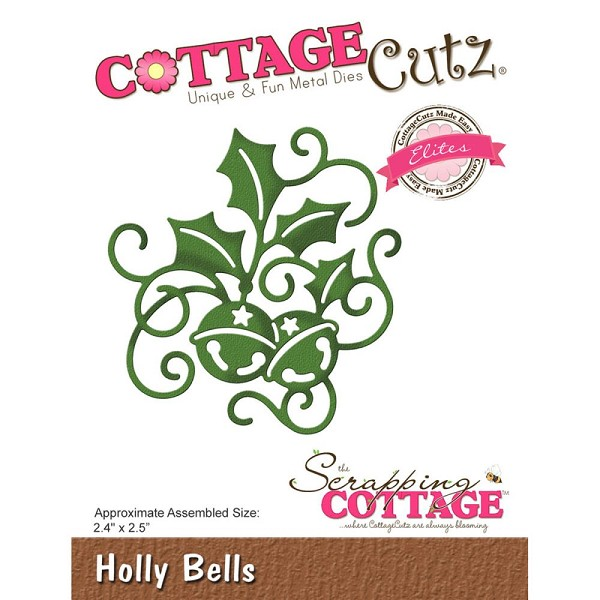 Cottage Cutz - Die - Holly Bells - CCE-444