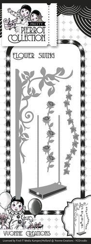 Yvonne Creations - Die - Pierrot Collection - Flower Swing
