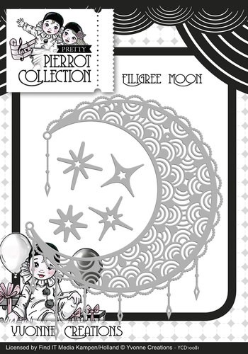 Yvonne Creations - Die - Pierrot Collection - Filigree Moon