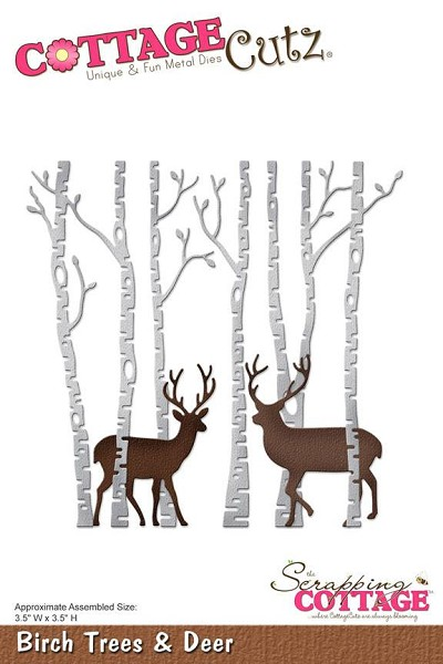Cottage Cutz - Die - Birch Trees & Deer - CC-175