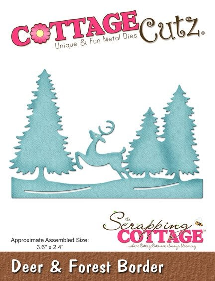 Cottage Cutz - Die - Deer & Forest Border - CCE-422