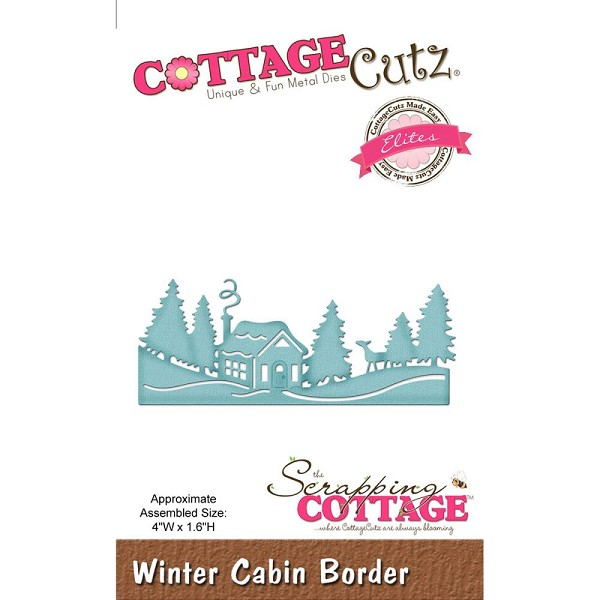 Cottage Cutz - Die - Winter Cabin Border - CCE-431