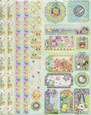 Joy! crafts - Sparkling Embossed Stickers - Baby 2 - 6013/0020