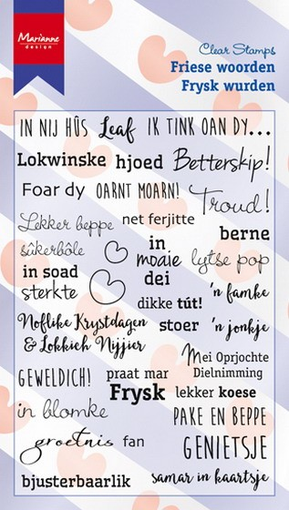 Marianne Design - Clearstamp - Friese woorden - CS0983