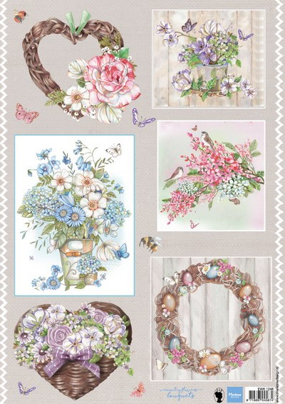 Marianne Design - Els Wezenbeek - 3D-knipvel A4 - Country Flowers 2 - EWK1248