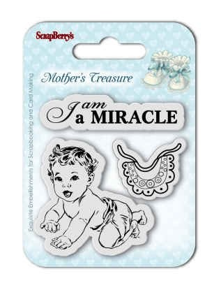 ScrapBerry`s - Clearstamp - Mother`s Treasure - I am a miracle - SCB4907024