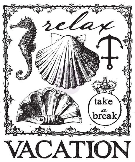 Prima Marketing - Clearstamp - Vacation - 572600