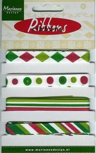 Marianne Design - Ribbons: Groen-rood - 8305