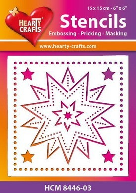 Hearty Crafts - Maskingstencil - Stars - HCM8446-03