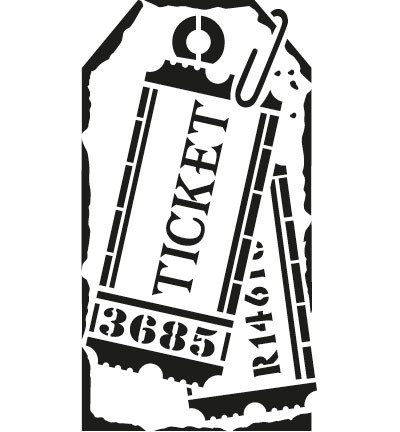 Viva Decor - Maskingstencil - Tag Ticket - 9002 696 00