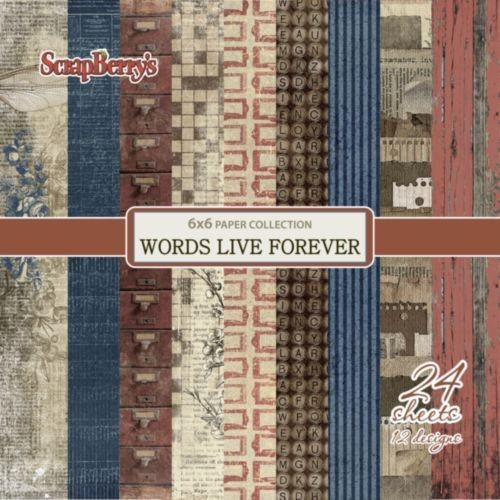 ScrapBerry`s - Paperpack - Words Live Forever - SCB220609310x