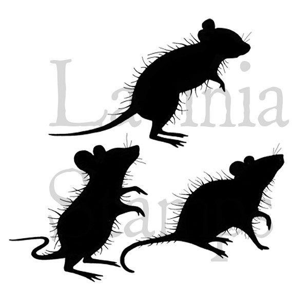 Lavinia Stamps - Clearstamp - Three Woodland Mice - LAV402