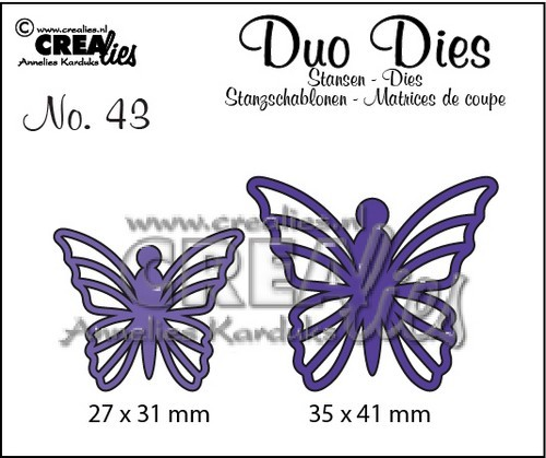 Crealies - Die - Duo Dies - No. 43