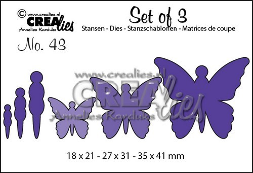 Crealies - Die - Set of 3 - No. 43 - Vlinders