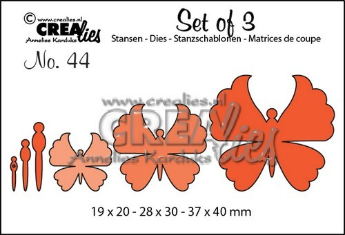 Crealies - Die - Set of 3 - No. 44 - Vlinders