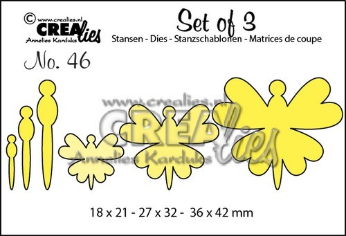 Crealies - Die - Set of 3 - No. 46 - Vlinders