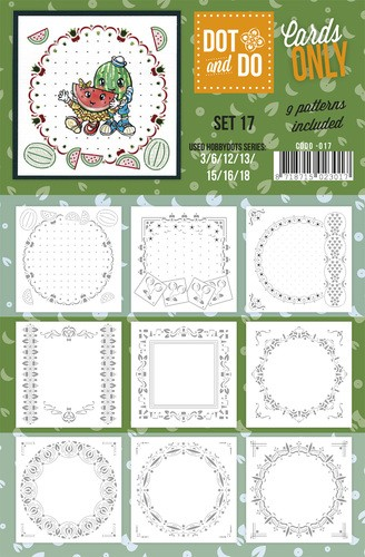 Card Deco - Oplegkaarten - Dot & Do - Cards Only - Set 17 - CODO017