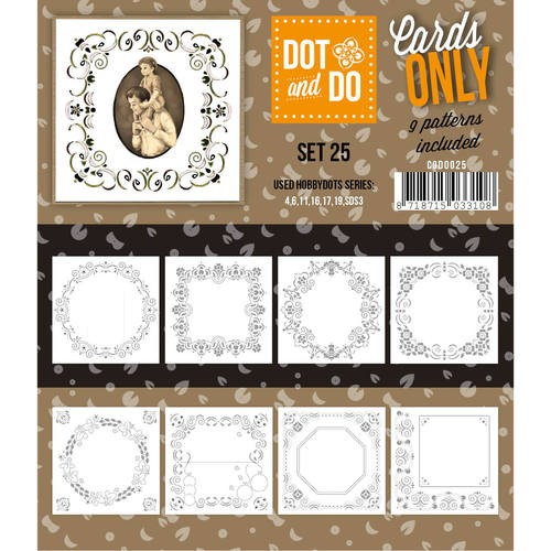 Card Deco - Oplegkaarten - Dot & Do - Cards Only - Set 25 - CODO025