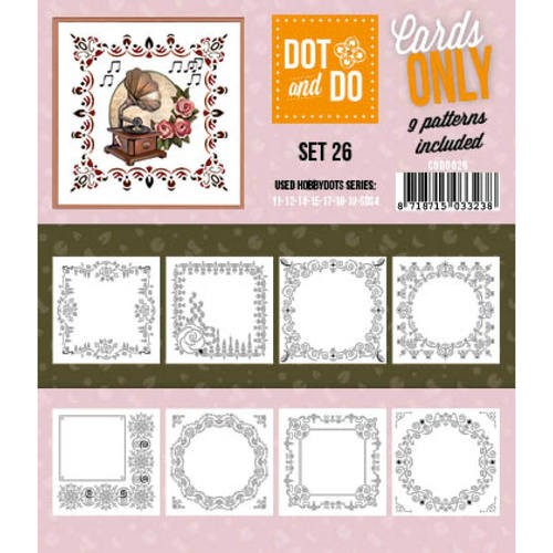 Card Deco - Oplegkaarten - Dot & Do - Cards Only - Set 26 - CODO026