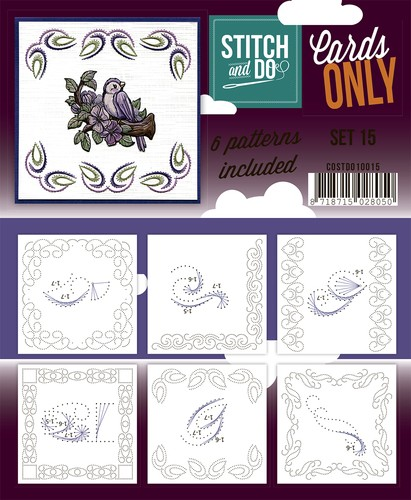 Card Deco - Stitch & Do - Oplegkaarten - Cards only - Set 15 - COSTDO10015