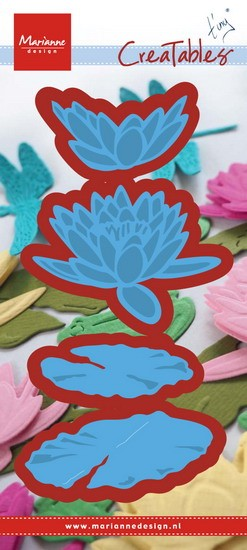 Marianne Design - Die - CreaTables - Tiny`s waterlily (Large) - LR0460