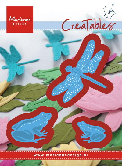 Marianne Design - Die - CreaTables - Tiny`s frogs and dragonfly - LR0461