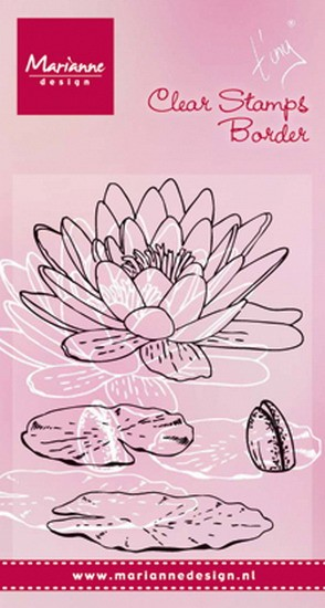 Marianne Design - Tiny`s - Clearstamp - Tiny`s waterlily - TC0850