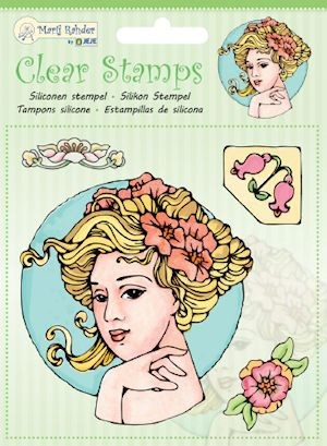 Marij Rahder - Clearstamp - Jugenstil - 9.0032